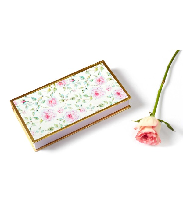 Powder White Floral Design Cash/Gaddi Box