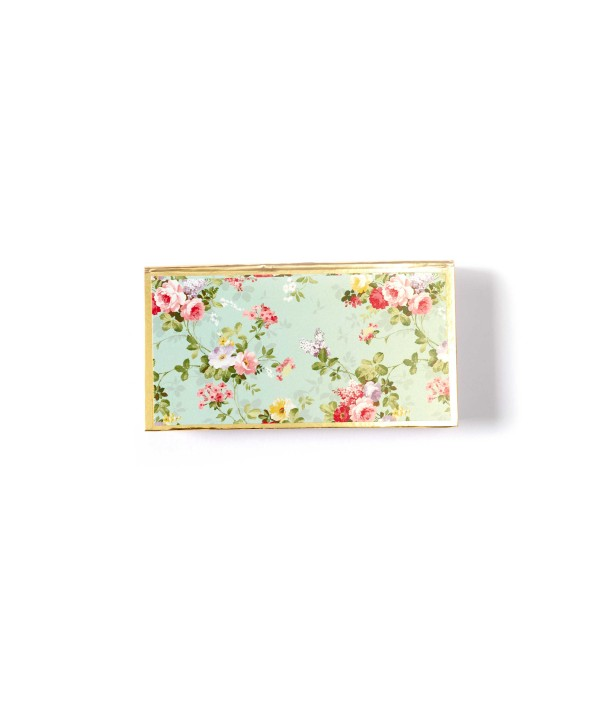 Sea Green Floral Design Cash/Gaddi Box