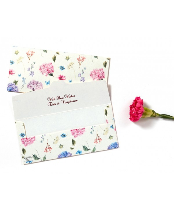 Hydrangea Design Money/Shagun Envelopes