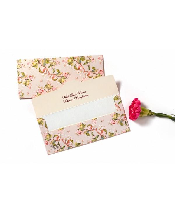 Peach Floral Design Money Envelopes- Personalized
