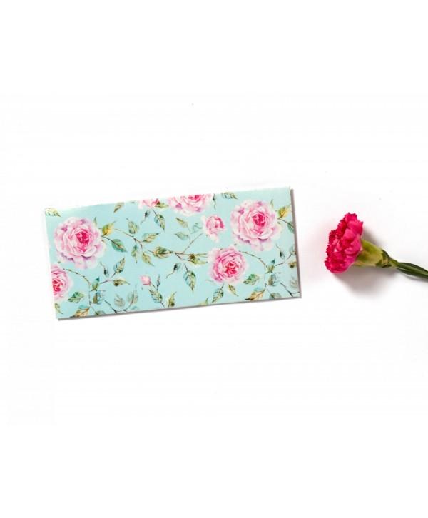 Powder Blue Floral Design Money/Shagun Envelopes- Personalized
