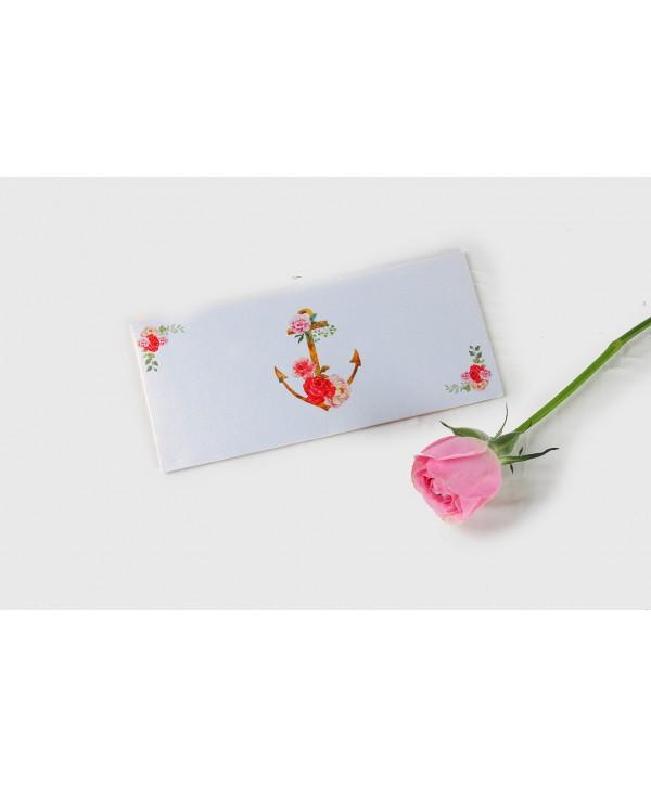 Floral Anchor Design Money/Shagun Envelopes