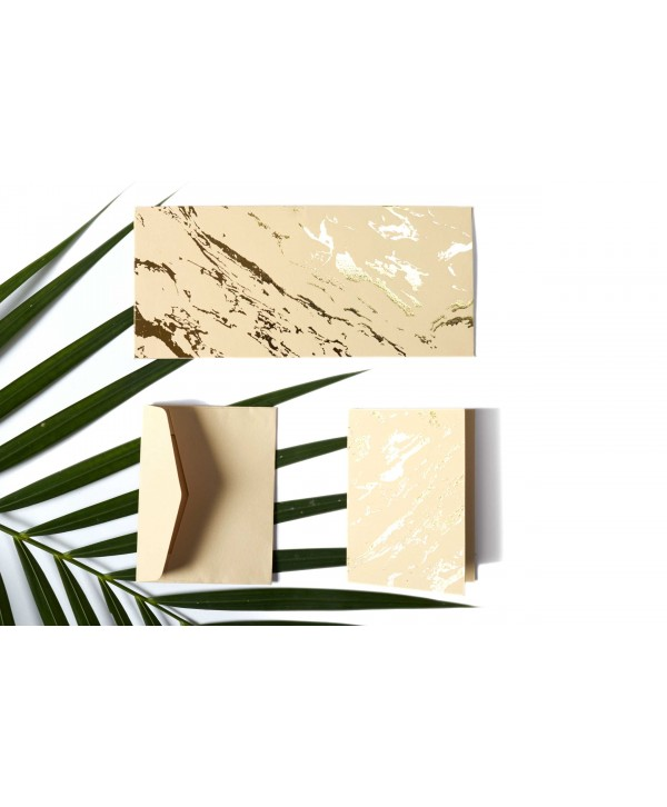 Marble Design Personalized Envelope & Tag Combo- Beige
