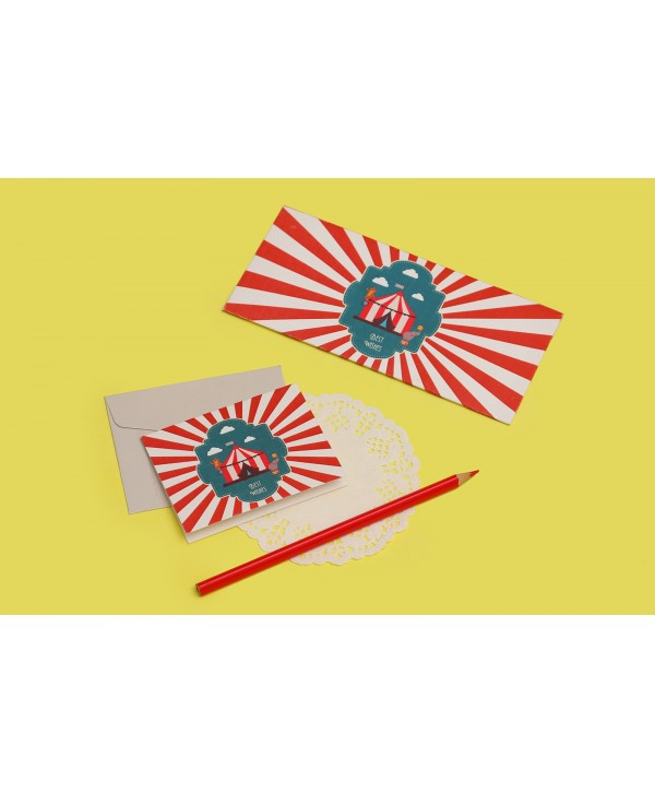 Circus Theme Envelopes And Tags