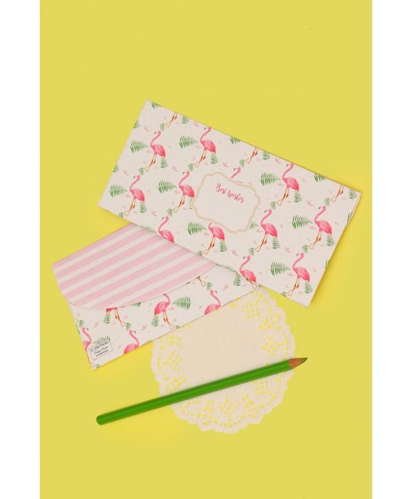 Flamingo Design Envelopes And Tags