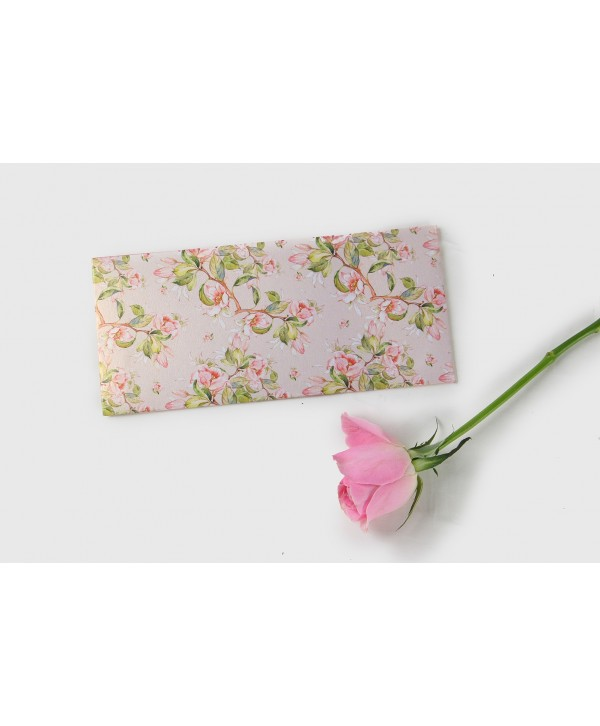 Peach Floral Design Money Envelopes With Peach Flap- Personalized
