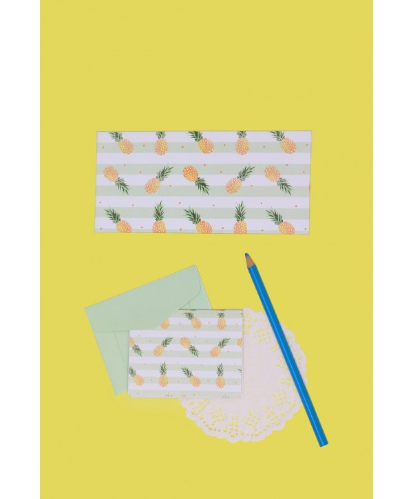 Pineapple Design Envelopes And Tags