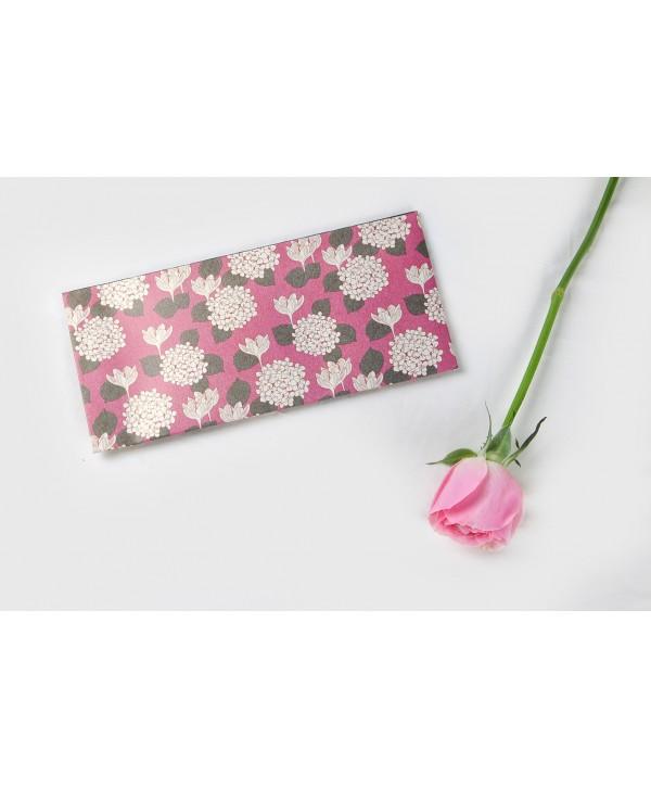 Pink Hydrangea Design Money/Shagun Envelopes