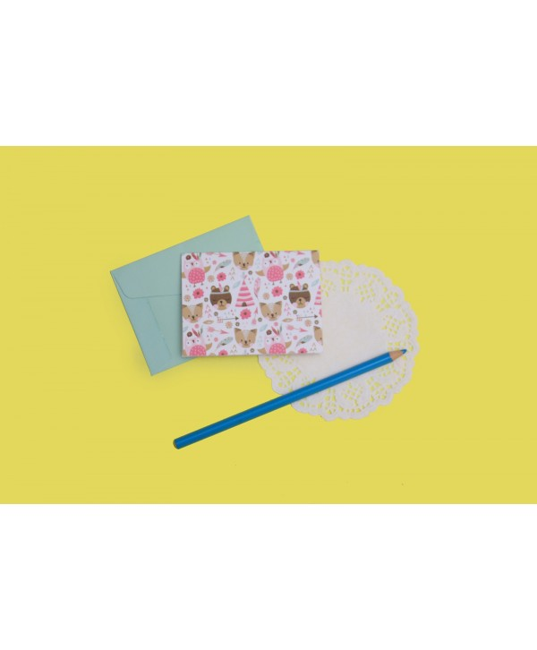 Boho Bear Theme Gift Tags Folded- Personalized