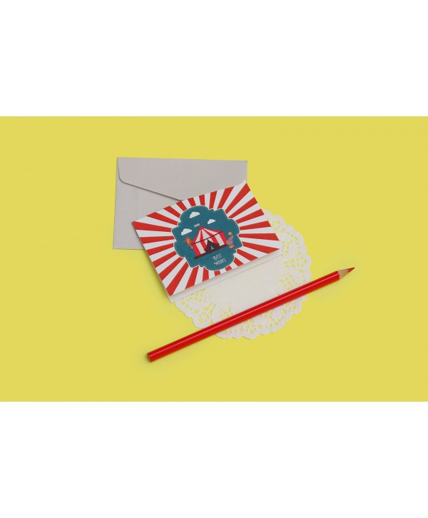 Circus Theme Gift Tags Folded- Personalized