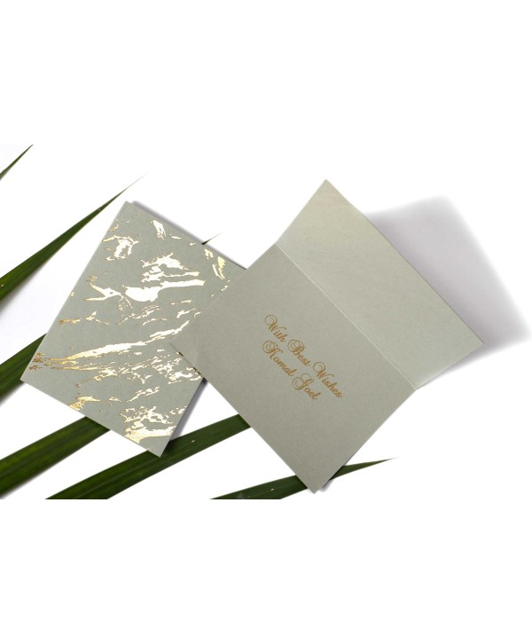 Marble Design Gold Foiled Personalized Gift Tags Folded- Grey