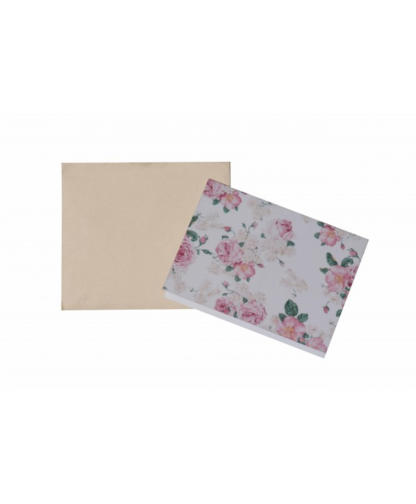 White Floral Design Gift Tags
