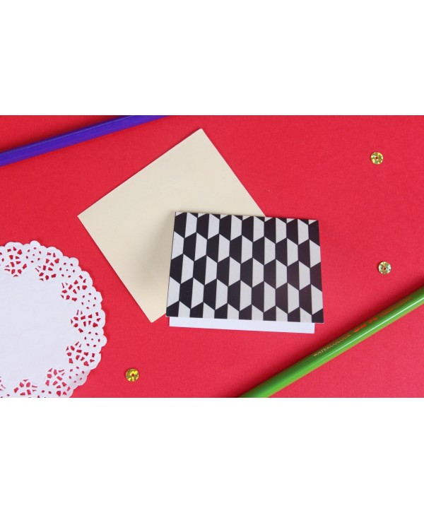 Black And White Geometrical Design Gift Tags
