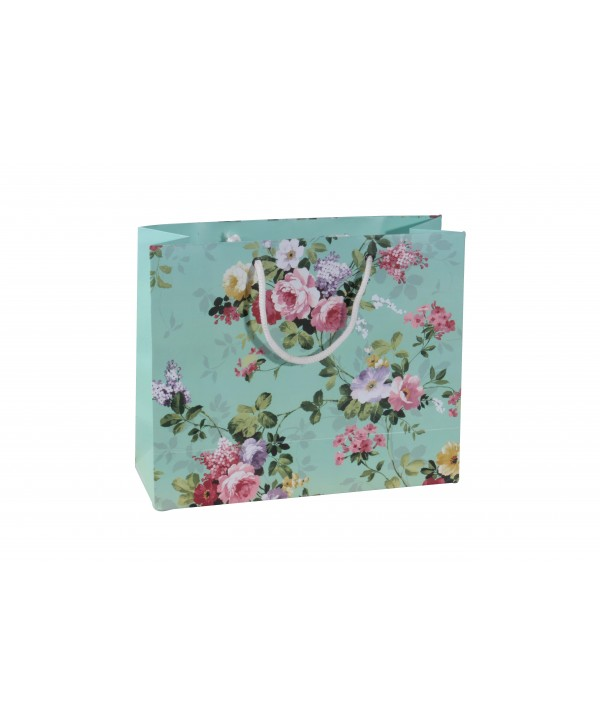 Sea Green Floral Gift Bags