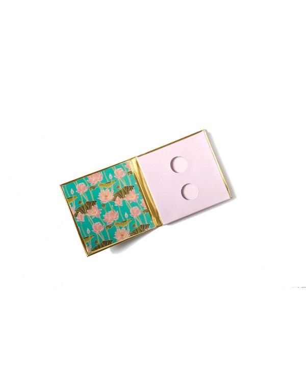Blue Lotus Design Gold Personalized Coin/Ginni Box