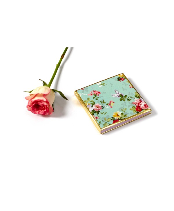 Sea Green Floral Design Gold Coin/Ginni Box