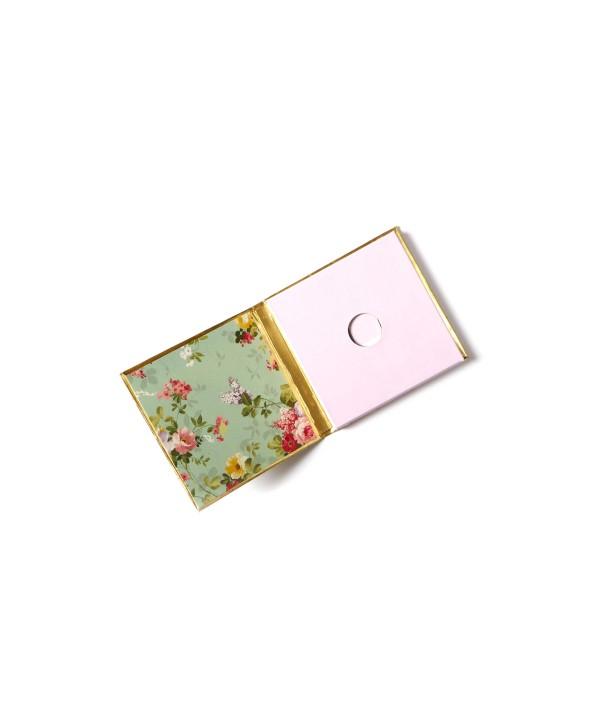 Sea Green Floral Design Personalized Gold Coin/Ginni Box