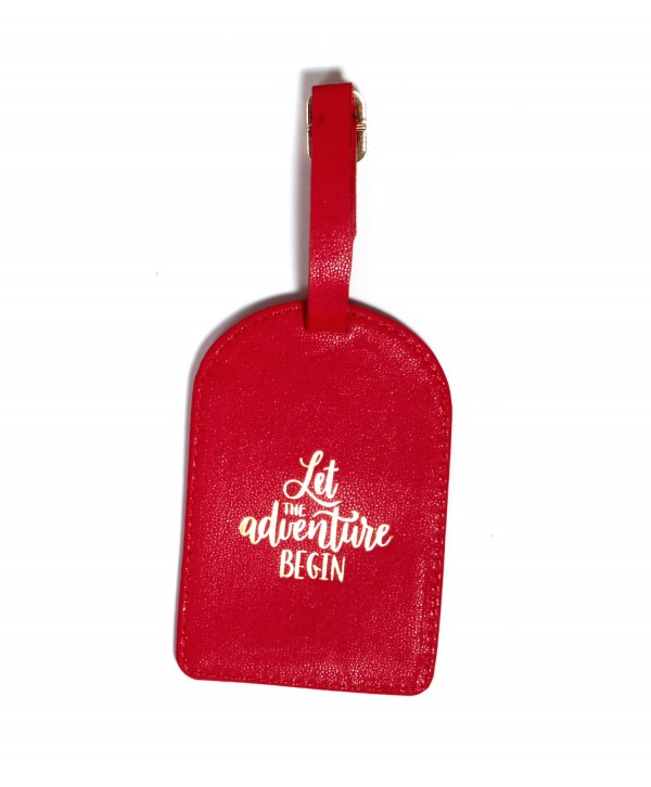 Let The Adventure Begin Luggage Tag- Red