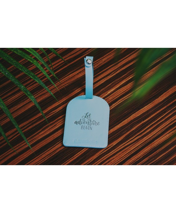 Let The Adventure Begin Luggage Tag- Mint Green