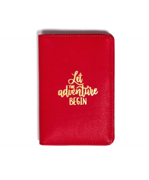 Let The Adventure Begin Passport Cover- Red
