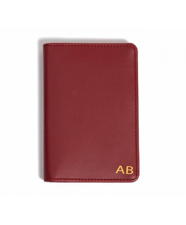 Passport Cover (Plain)- Burgandy- Personalized