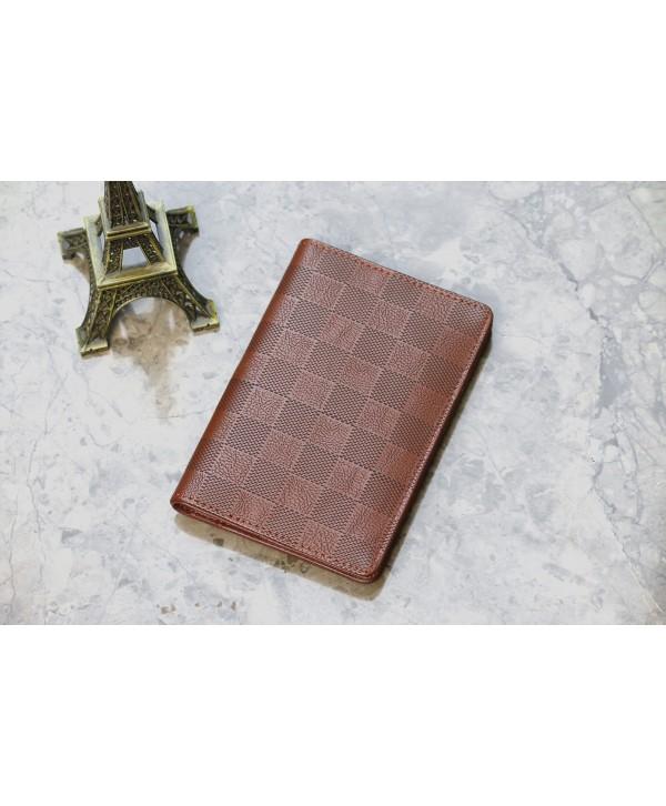 Dark Brown Pattern Passport Cover