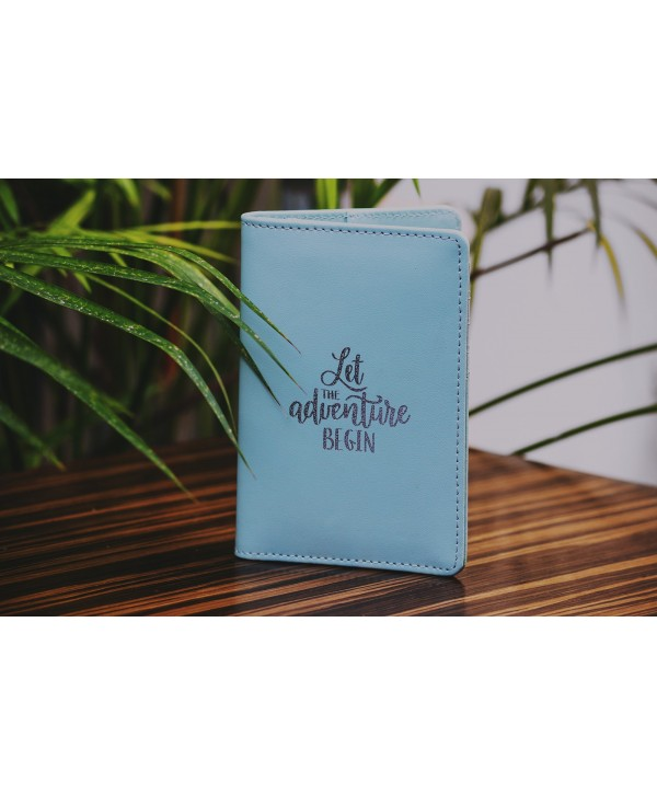 Let The Adventure Begin Passport Cover- Mint Green- Personalized