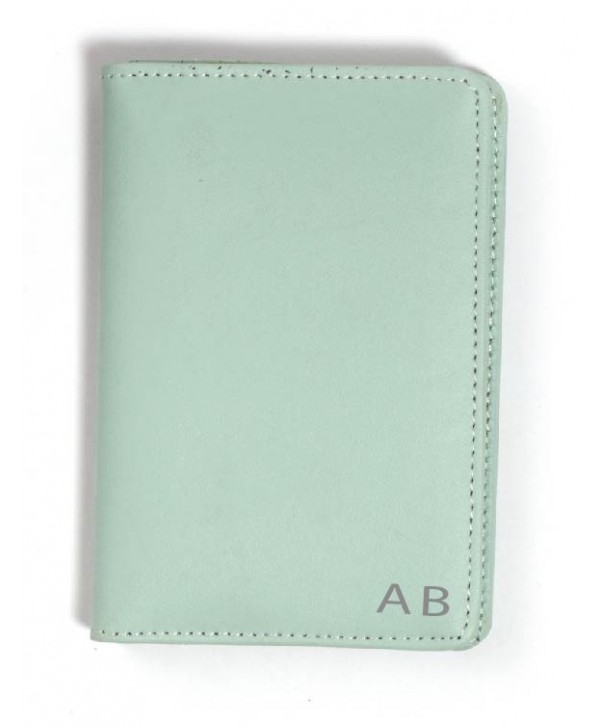 Passport Cover (Plain)- Mint Green- Personalized