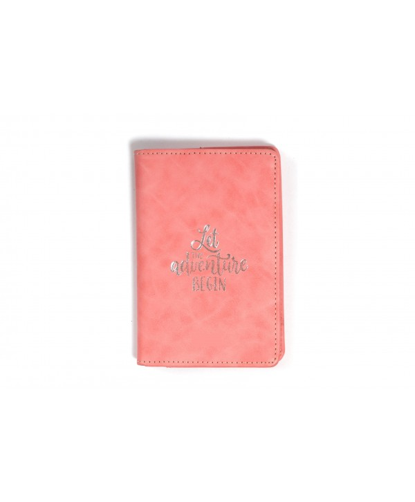 Let The Adventure Begin Passport Cover- Pink Texture