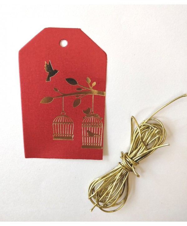 BIRCADE DESIGN GIFT TAGS- RED