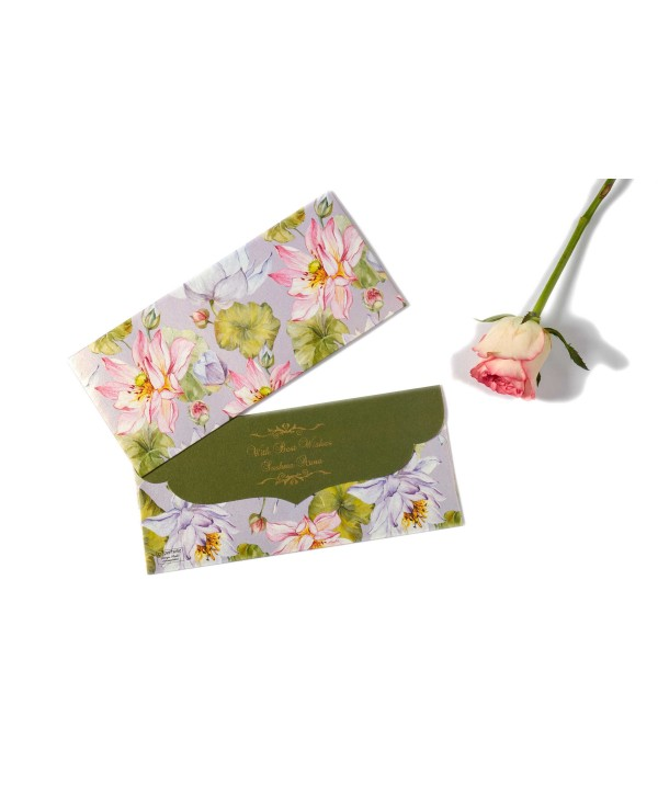 Purple Lotus Design Money Envelopes-Personalized