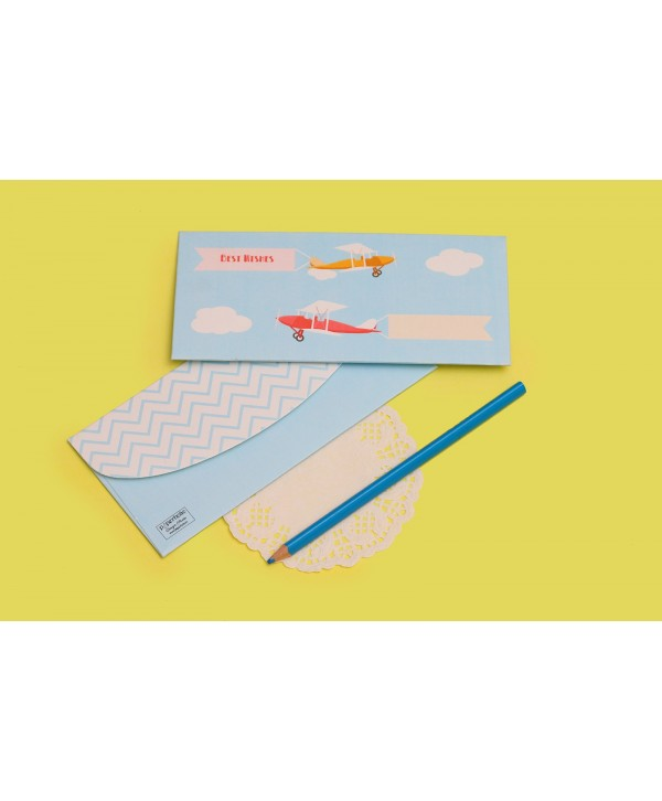 AIRPLANE DESIGN MONEY/SHAGUN ENVELOPES