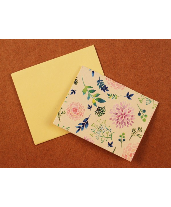 CREAM FLORAL DESIGN GIFT TAGS