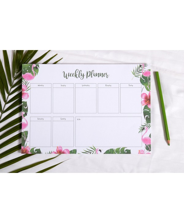 FLAMINGO THEME WEEKLY PLANNER