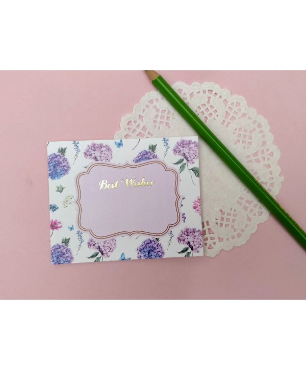 HYDRANGES DESIGN FLAT CARDS- PACK OF 10 CARDS