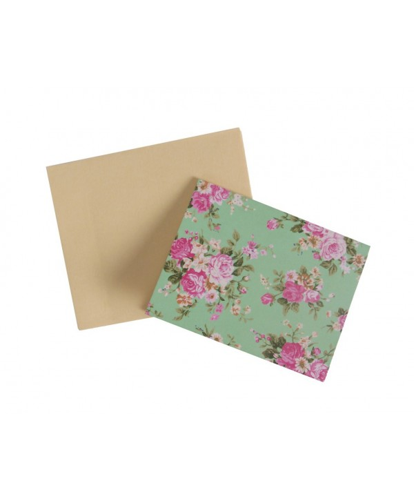 MINT GREEN FLORAL DESIGN GIFT TAGS