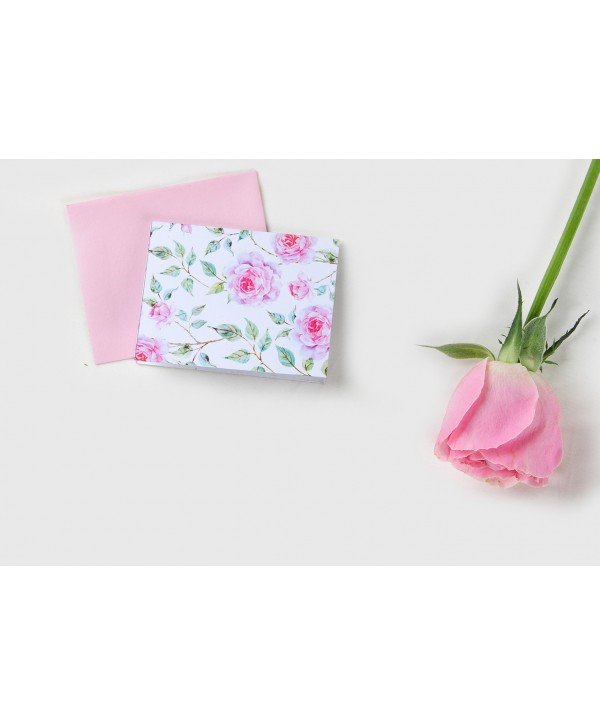 POWDER WHITE FLORAL DESIGN GIFT TAGS