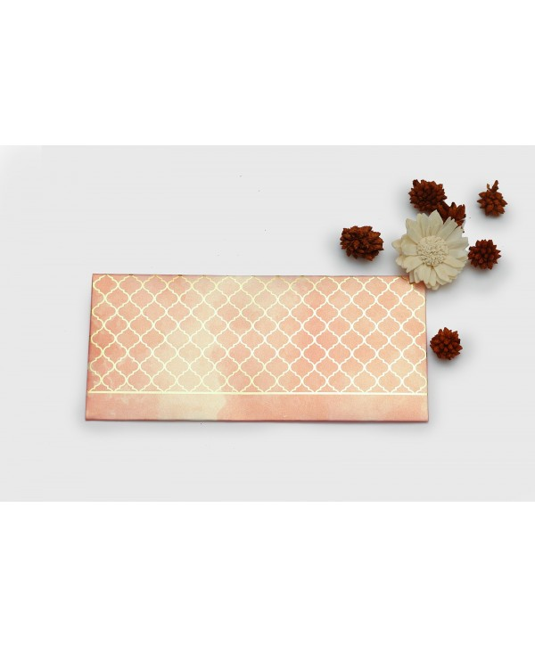 WATERCOLOR MOROCCAN DESIGN GOLD FOILED MONEY/SHAGUN ENVELOPES- PINK