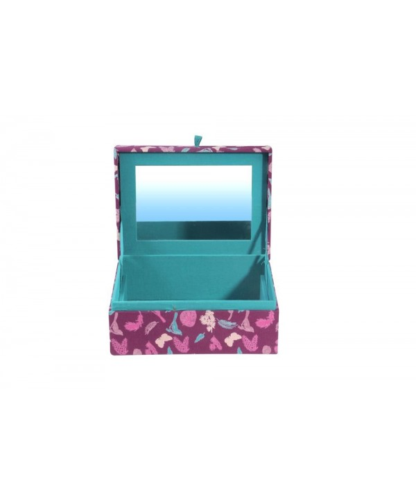 BUTTERFLY PRINT FABRIC JEWELRY BOX