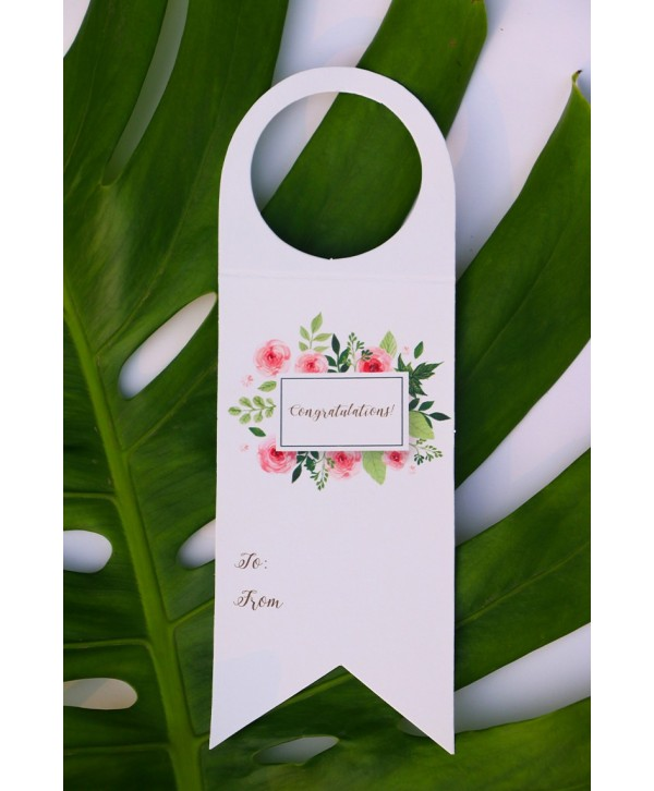CONGRATULATIONS THEME WINE TAGS- SET OF 6