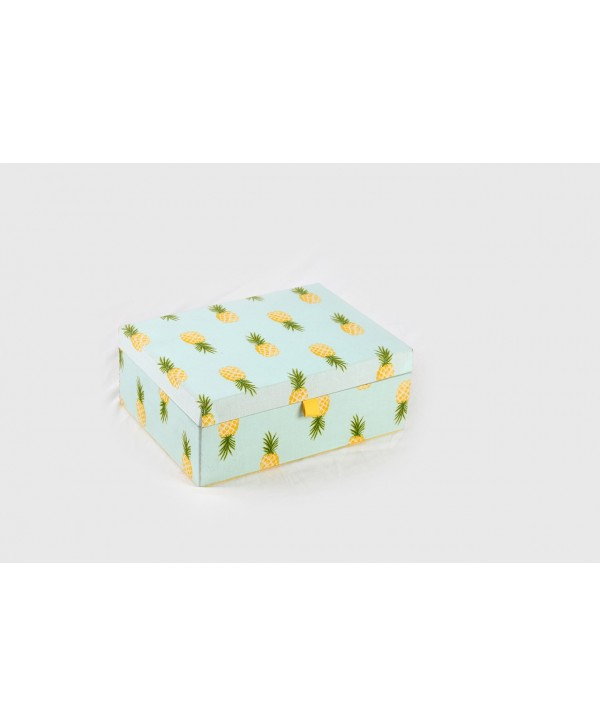 PINEAPPLE PRINT JEWELRY BOX