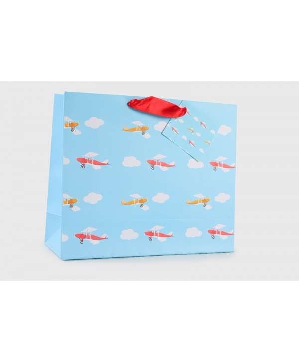 AIRPLANE DESIGN GIFT BAGS- SET OF 2