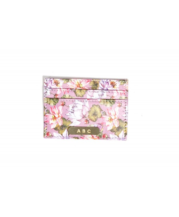 Purple Lotus Design Card Holder- Personalized