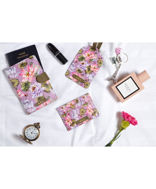 Purple Lotus Design Travel Gift Set- Personalized